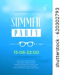 vertical blue summer party... | Shutterstock .eps vector #620302793