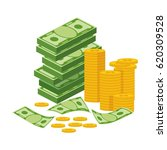 stack of money. packing in... | Shutterstock .eps vector #620309528