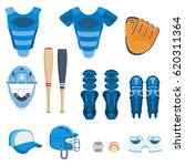 baseball equipment set. bat ... | Shutterstock .eps vector #620311364