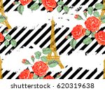 seamless paris pattern with... | Shutterstock .eps vector #620319638