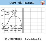 whale in the ocean. copy the... | Shutterstock .eps vector #620321168