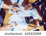 business people brainstorming... | Shutterstock . vector #620325089