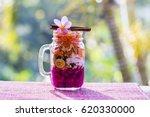 muesli made from papaya ... | Shutterstock . vector #620330000