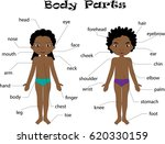 african american boy and girl... | Shutterstock . vector #620330159