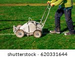 lines being painted on football ...   Shutterstock . vector #620331644