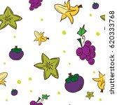 pattern fruit star apple banana ...