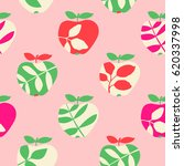 seamless pattern with apples | Shutterstock .eps vector #620337998