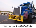 classic blue truck with the... | Shutterstock . vector #620342144