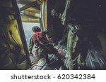 soldier  attack unit  parachute ... | Shutterstock . vector #620342384