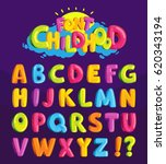 children's font in the cartoon... | Shutterstock .eps vector #620343194
