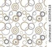 seamless pattern with cogwheels....   Shutterstock .eps vector #620345618