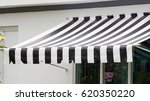 black and white striped awning | Shutterstock . vector #620350220
