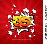 35th anniversary emblem. thirty ... | Shutterstock .eps vector #620355044
