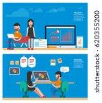 flat business   Shutterstock .eps vector #620355200