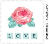 illustration of rose | Shutterstock .eps vector #620360390