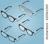 isometric glasses set with... | Shutterstock .eps vector #620361263