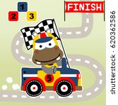 hippo the winner of race car ... | Shutterstock .eps vector #620362586
