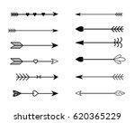 rustic arrow set  | Shutterstock . vector #620365229