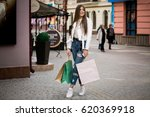 woman shopping | Shutterstock . vector #620369918