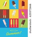 vibrant hello summer poster... | Shutterstock .eps vector #620372666