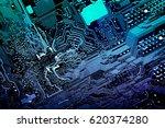 circuit board. electronic... | Shutterstock . vector #620374280