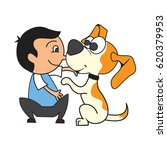 animal care concept  love ... | Shutterstock .eps vector #620379953