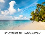 tropical sand beach | Shutterstock . vector #620382980