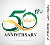 50 years anniversary... | Shutterstock .eps vector #620390669