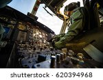 helicopter cabin with panel ... | Shutterstock . vector #620394968
