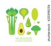 healthy green food celery... | Shutterstock .eps vector #620398256