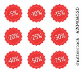 red discount stickers set. sale ... | Shutterstock .eps vector #620406530