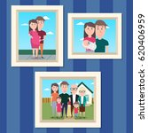 family photos in the frames.... | Shutterstock .eps vector #620406959