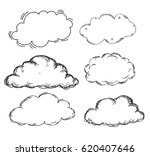 hand drawn clouds vector | Shutterstock .eps vector #620407646