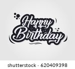 happy birthday typographic... | Shutterstock .eps vector #620409398