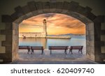 the egyptian lighthouse at the...   Shutterstock . vector #620409740
