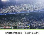 VALENCIA, SPAIN - SEPTEMBER 29: UEFA Champions League, Valencia C.F. vs Manchester United, Mestalla Stadium, Spain on September 29, 2010 - stock photo