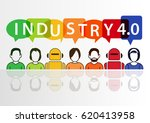 industry 4.0 and automation... | Shutterstock .eps vector #620413958