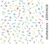 seamless hand drawn pattern... | Shutterstock .eps vector #620414618