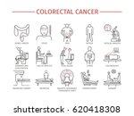 colorectal cancer symptoms.... | Shutterstock . vector #620418308