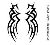 tattoo sketch tribal vector...   Shutterstock .eps vector #620419343