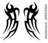 tribal tattoo art designs.... | Shutterstock .eps vector #620419364