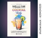 cocktail party flyer.... | Shutterstock .eps vector #620424320