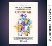 cocktail party flyer.... | Shutterstock .eps vector #620424344