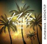 hello summer web banner.... | Shutterstock .eps vector #620424719