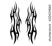 tattoo sketch tribal vector... | Shutterstock .eps vector #620424860