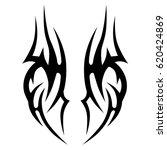 tattoo sketch tribal vector... | Shutterstock .eps vector #620424869