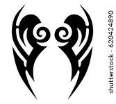 tattoo sketch tribal vector... | Shutterstock .eps vector #620424890