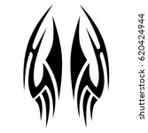 tattoo sketch tribal vector... | Shutterstock .eps vector #620424944