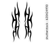 tattoo sketch tribal vector... | Shutterstock .eps vector #620424950