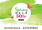 spring sale banner with... | Shutterstock .eps vector #620430860